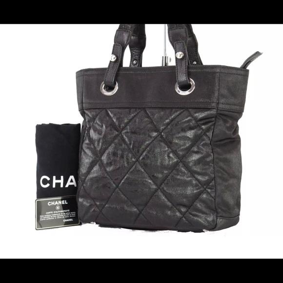 4d1f4d3bca97 CHANEL Handbags - Auth CHANEL Paris Biarritz PM Tote w/Card 11543289